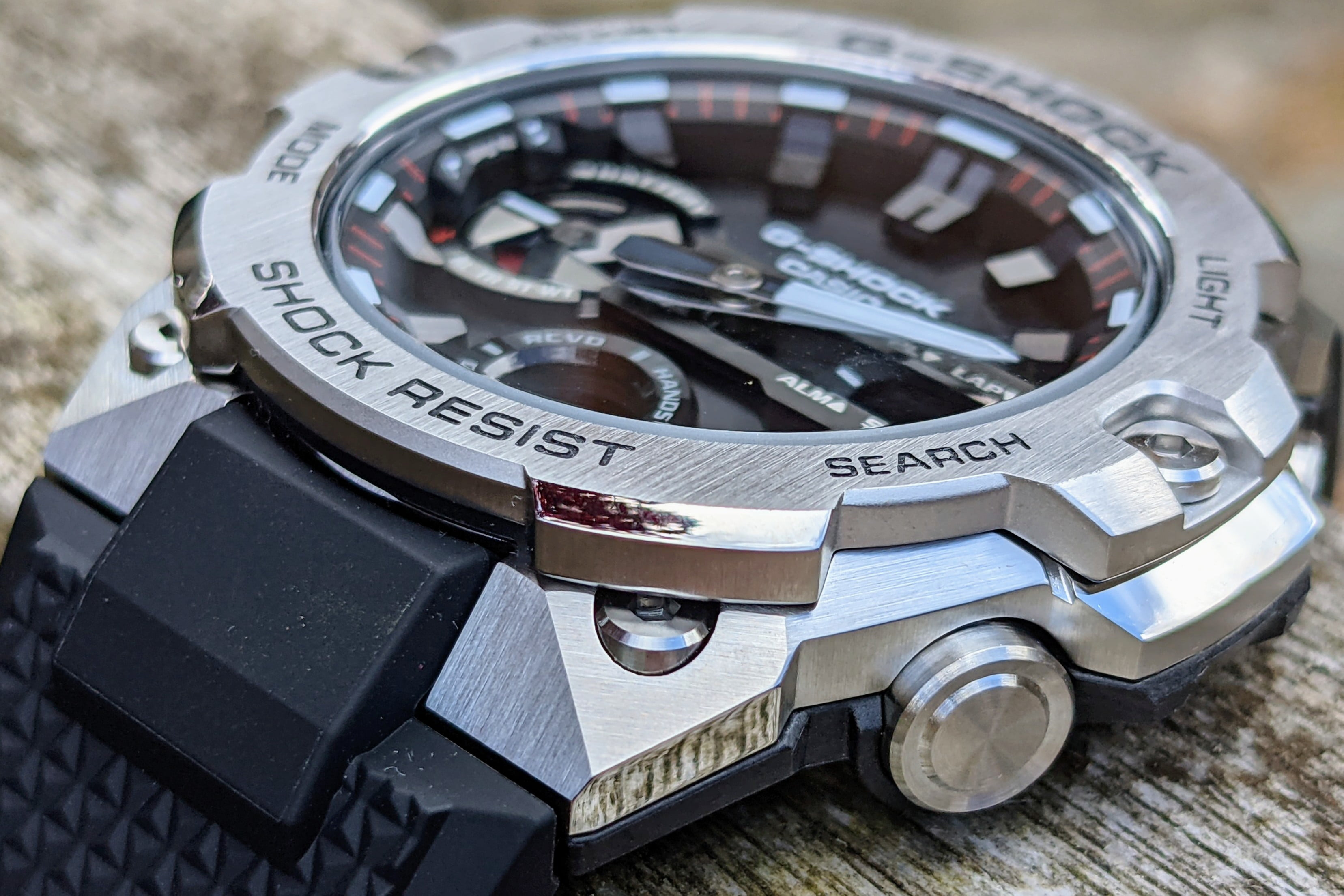 casio g shock steel gst b400 hands on features price photos release date case side close