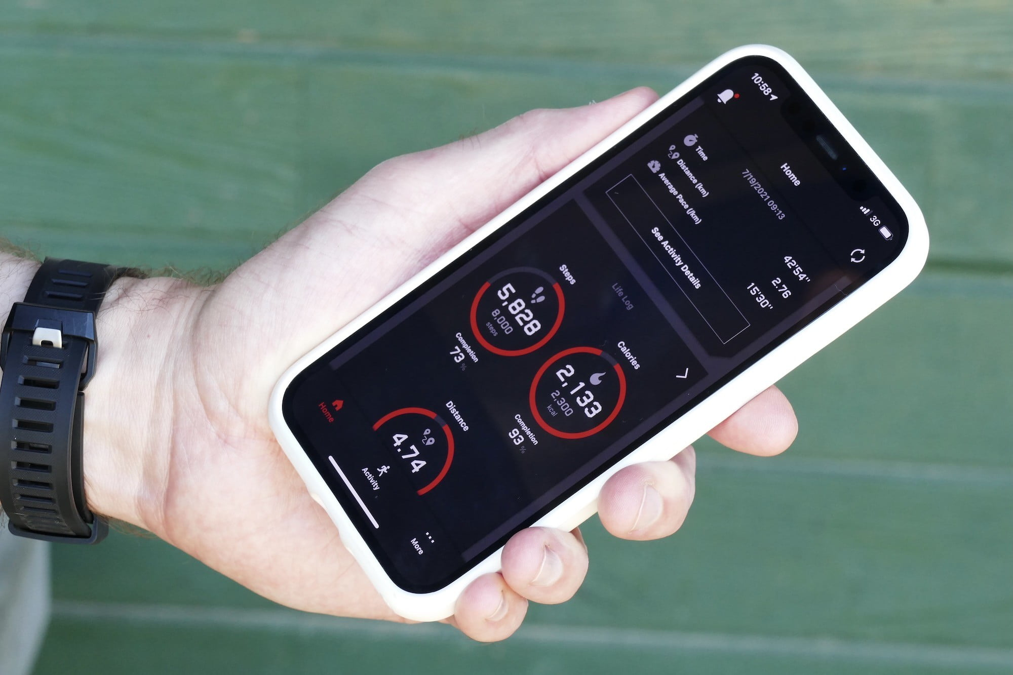 The G-Shock Move app main screen.