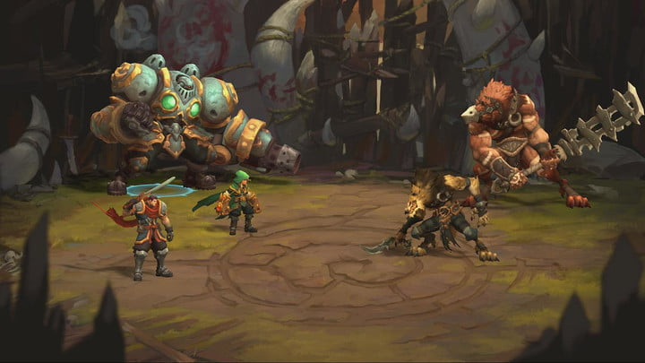 Battle Chasers player entering turn-based combat.