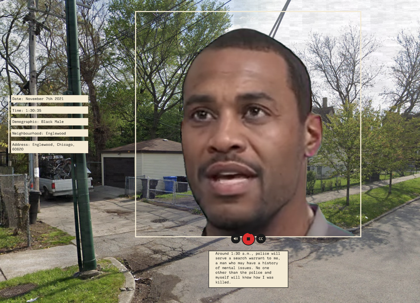 Future Wakes uses Style-GAN ADA-2 and first-order modelling to generate the faces.