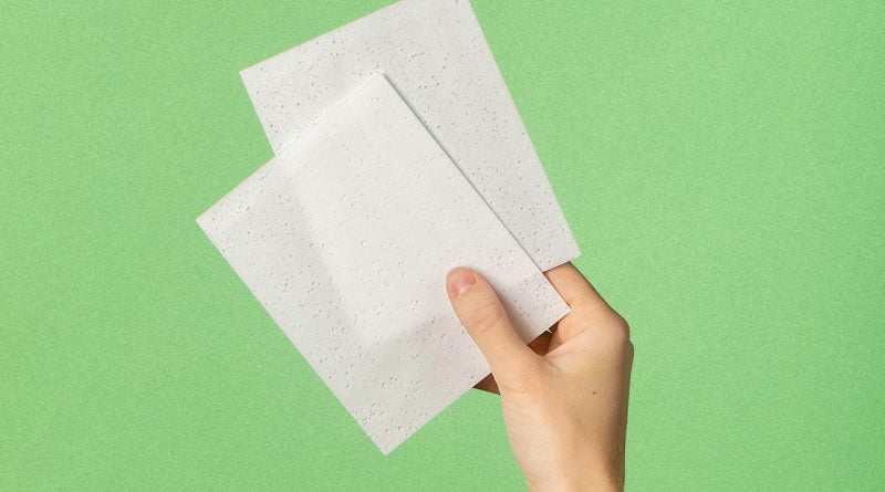 These sheets of laundry detergent eliminate the plastic and the water