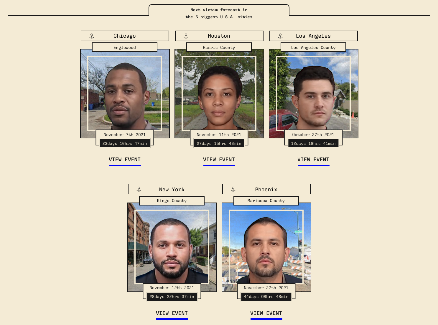 Future Wakes features fictional stories about police killings that are based on real data.