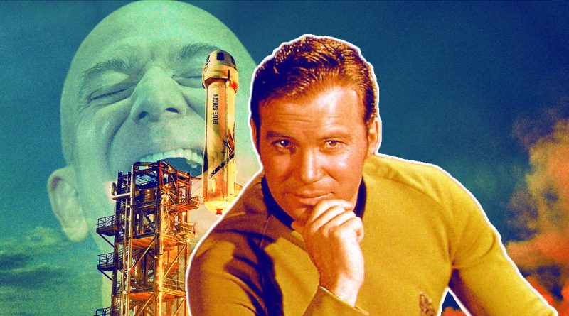 Bezos Interupts William Shatner to Spray Staff With Champagne