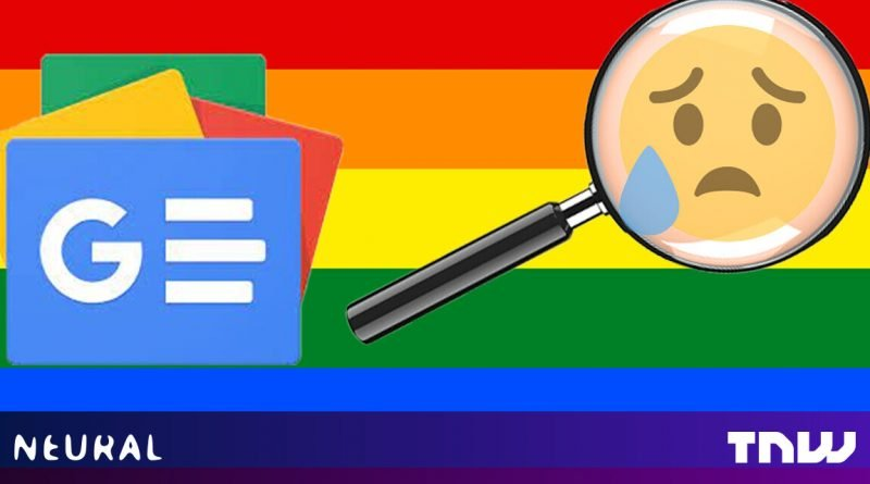 Why can't Google's algorithms find any good news for queer people?